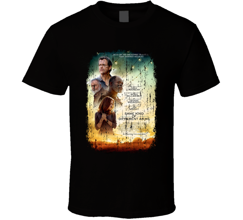 Same Kind Of Different As Me Movie Poster Cool Worn Look T Shirt