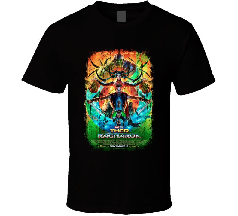 Thor Ragnarok Movie Poster Cool Worn Look T Shirt