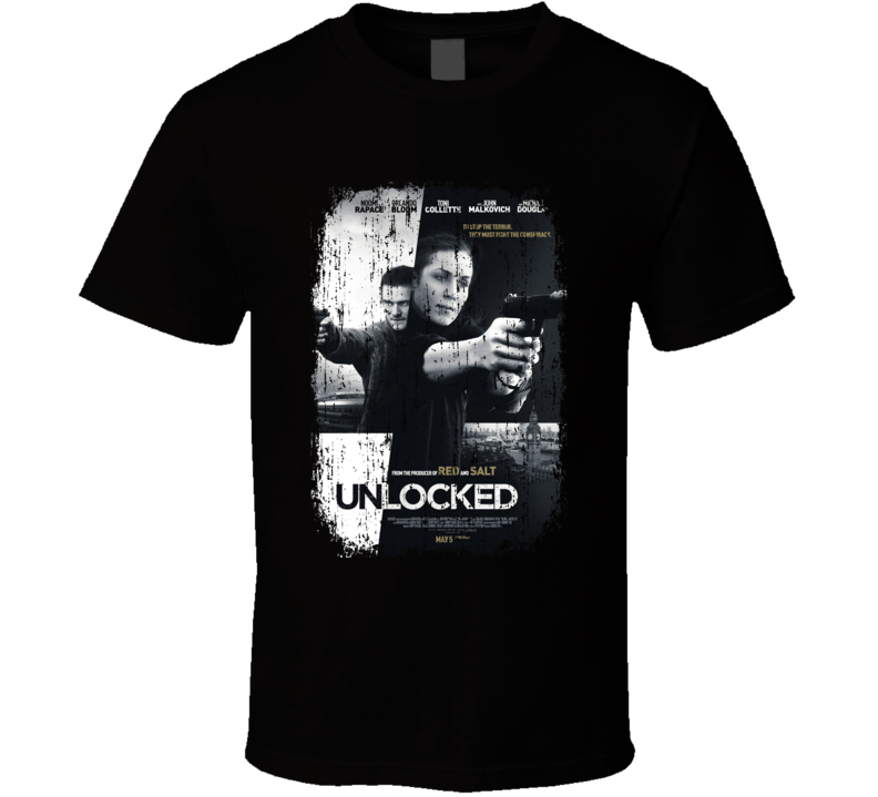 Unlocked Movie Poster Cool Worn Look T Shirt