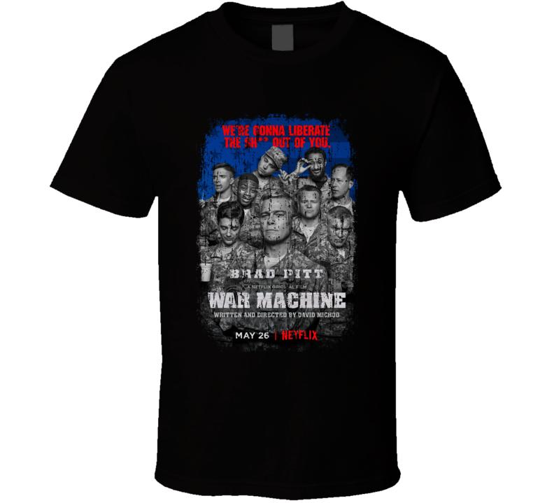 War Machine Movie Poster Cool Worn Look T Shirt