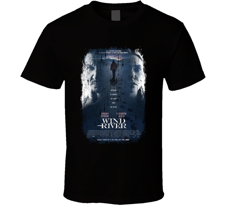 Wind River Movie Poster Cool Worn Look T Shirt