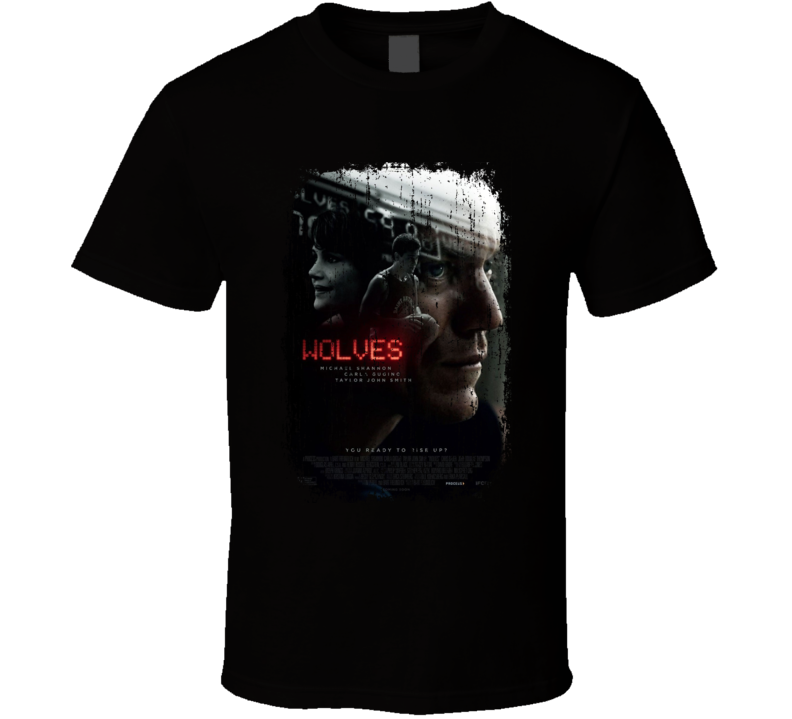 Wolves Movie Poster Cool Worn Look T Shirt