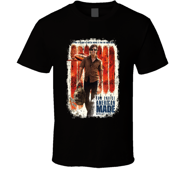 American Made Movie Poster Cool Worn Look T Shirt