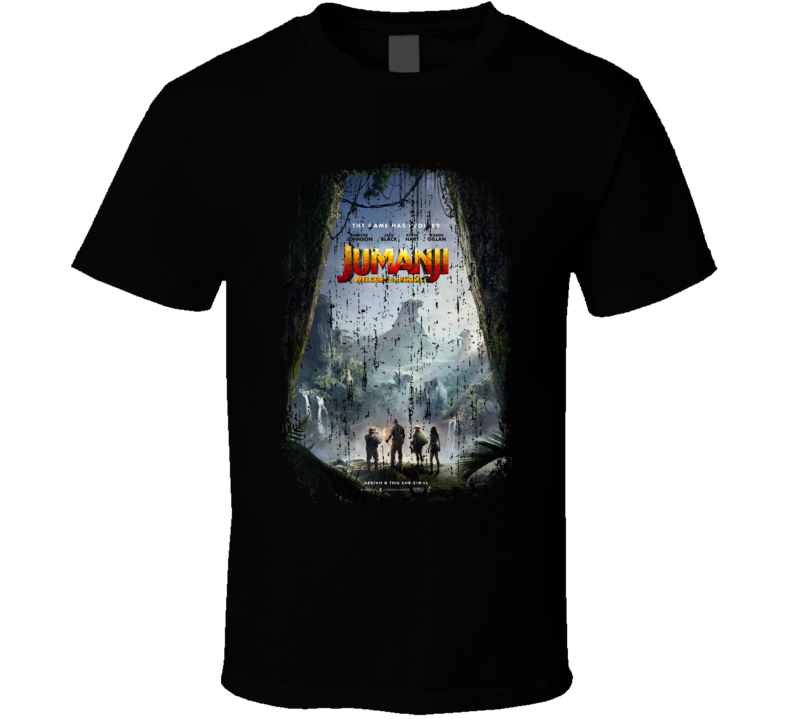 Jumanji Welcome To The Jungle Movie Poster Cool Worn Look T Shirt