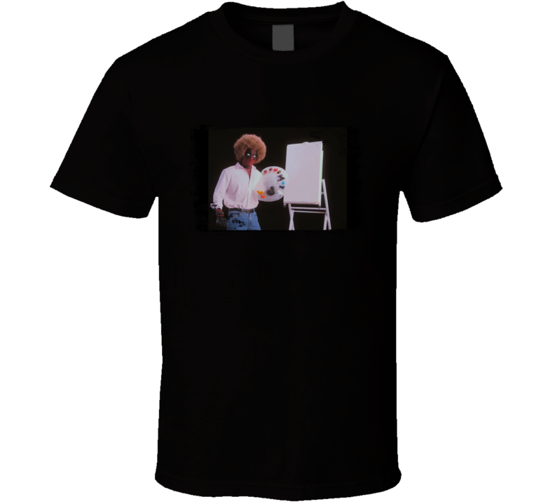Deadpool 2 Trailer Funny Bob Ross Painter Gift T Shirt