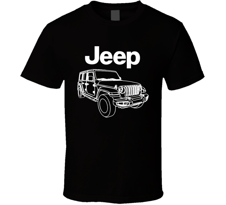 2018 Jeep Wrangler Cool Off Road Car Guy Fan Gift T Shirt