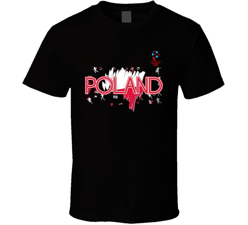 Poland 2018 Fifa World Cup Super Cool Football Fan T Shirt