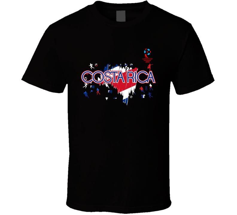 Costa Rica 2018 Fifa World Cup Super Cool Football Fan T Shirt