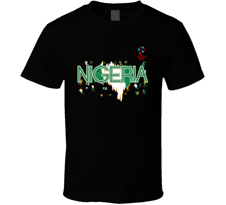 Nigeria 2018 Fifa World Cup Super Cool Football Fan T Shirt