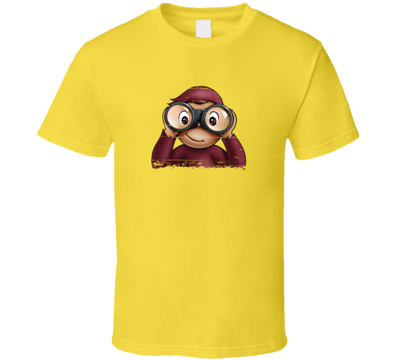 Curious George Sees You Distressed T Shirt