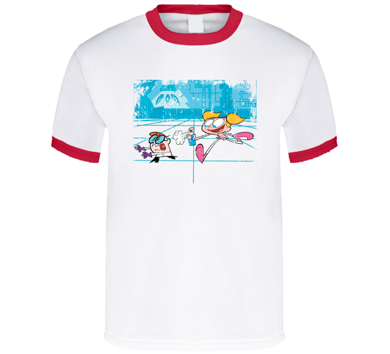 Dexters Labratory Animated TV Series Aged Look T Shirt