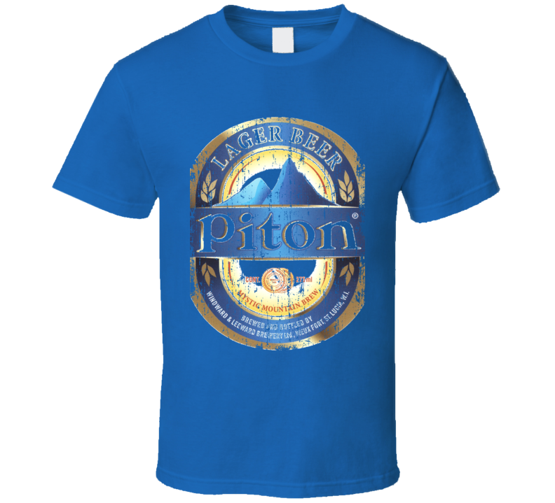 St. Lucia Piton Beer Cool Aged Look T shirt