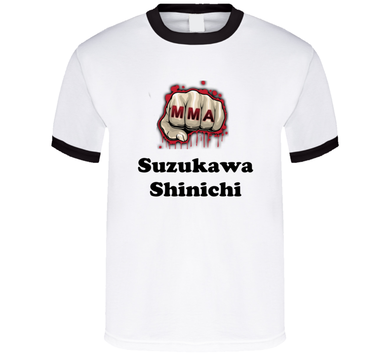 Suzukawa Shinichi Mixed Martial Arts Fighters Cool Grunge Look T shirts
