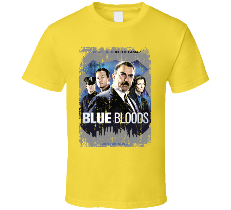 Blue Bloods American Most Watched TV Show Cool Grunge Look T shirt