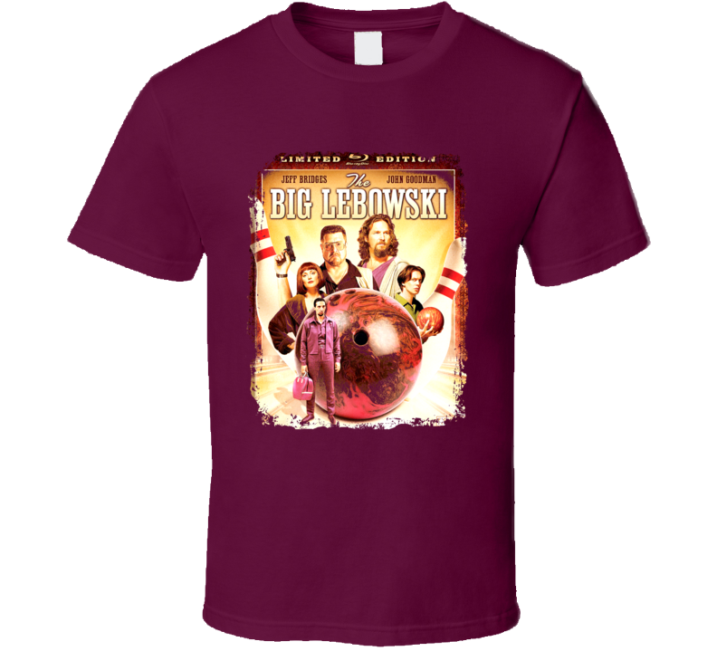 The Big Lebowski Comedy Film Poster Aged Look T Shirt