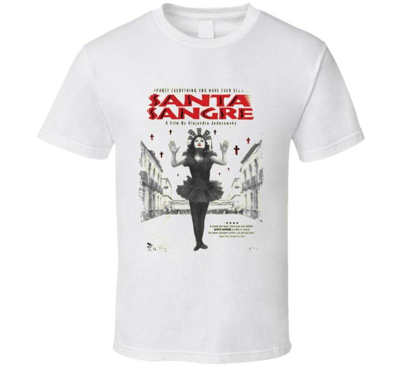 Santa Sangre Comedy Film Poster Aged Look T Shirt