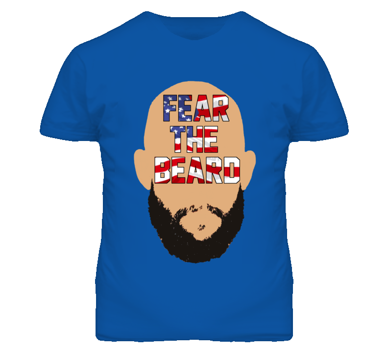 Tim Howard USA Fear The Beard Simple Man Style World Cup T Shirt