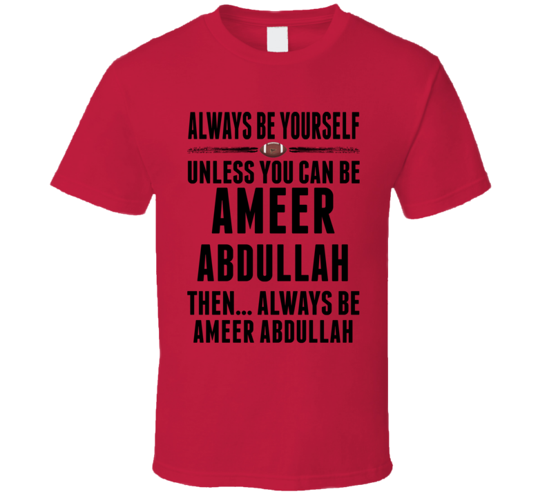 Ameer Abdullah Be Yourself Nebraska USA Football Fan T Shirt