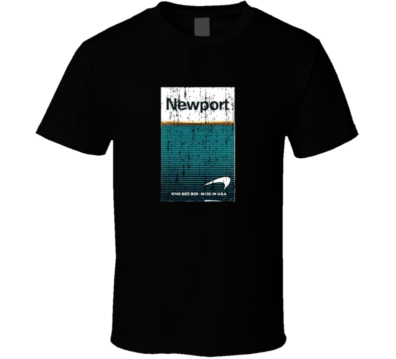 Newport Cigarettes King Size Grunge Look T Shirt