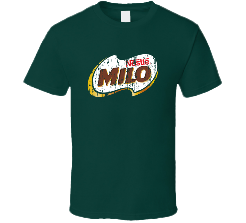 Milo Hot Chocolate Distressed Look T Shirt