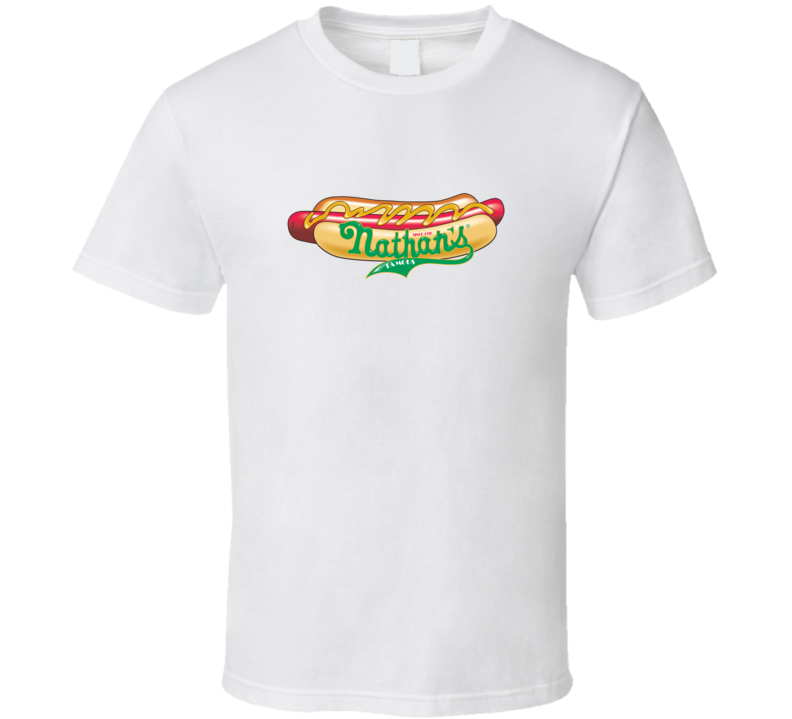 Famous Nathan Hotdogs Distressed Logo T Shirt