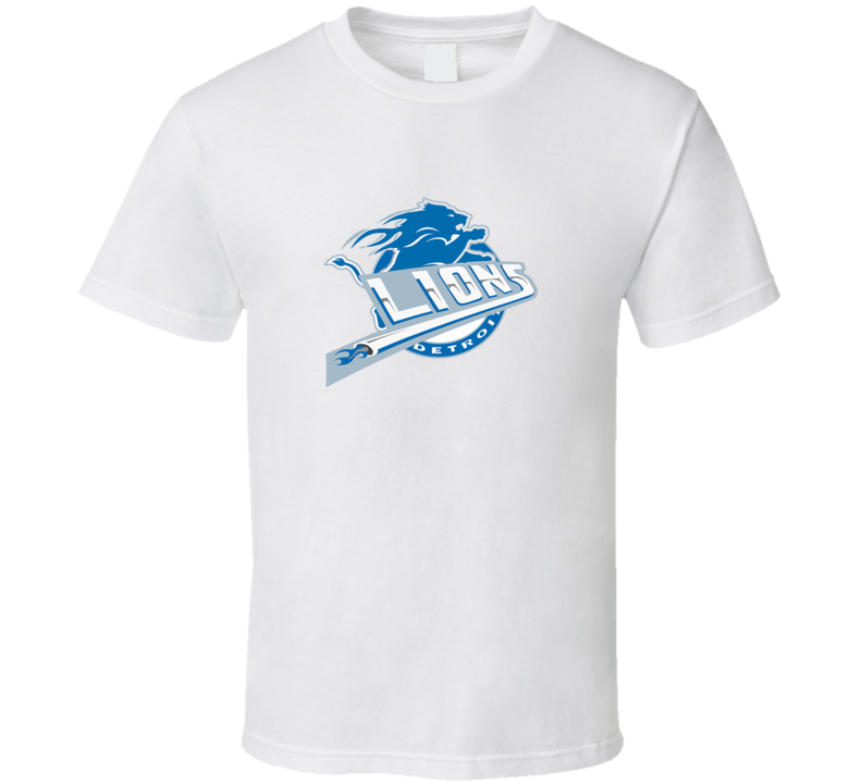 Detroit Lions and Detroit Pistons Combined Logo T Shirt