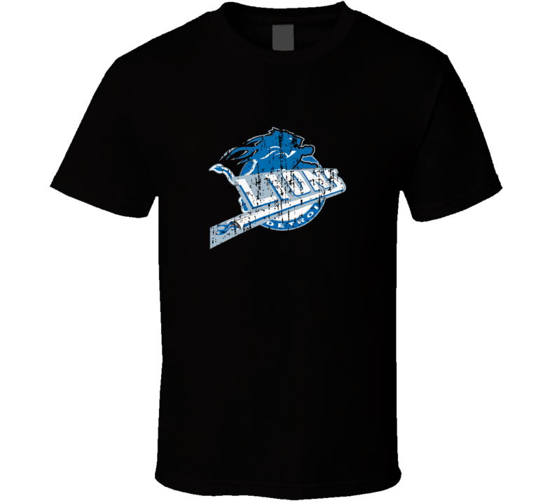 Detroit Pistons and Detroit Lions Combined Distressed Logo T Shirt