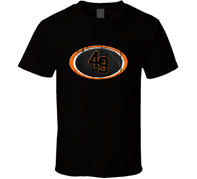 San Francisco 49ers and San Francisco Giants combined Mash-up Distressed Logo T Shirt