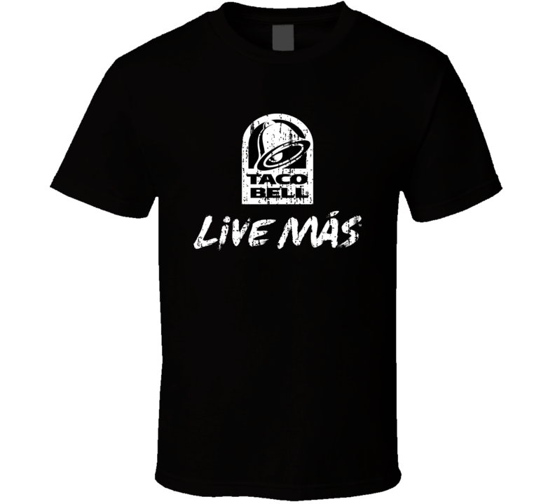 Taco Bell Live Mas Think Outside of the bun Distressed Look T Shirt