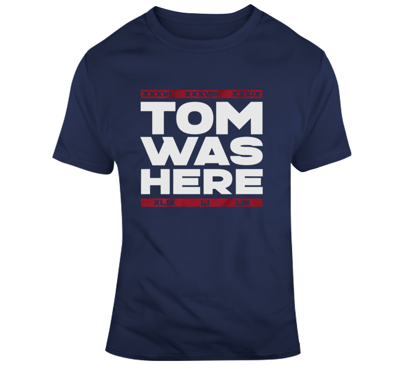 Tom Brady Announcement Was Here Goat 6 Rings T Shirt