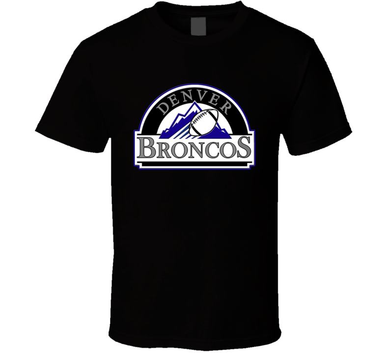 Denver And Colorado Mash Up T Shirt
