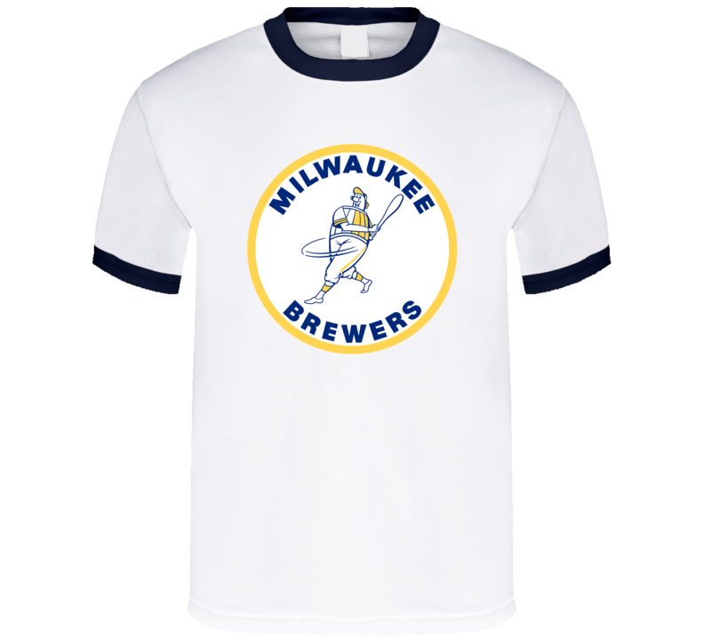 Milwaukee Brewers Defunct Baseball Team Logo Fan T Shirt