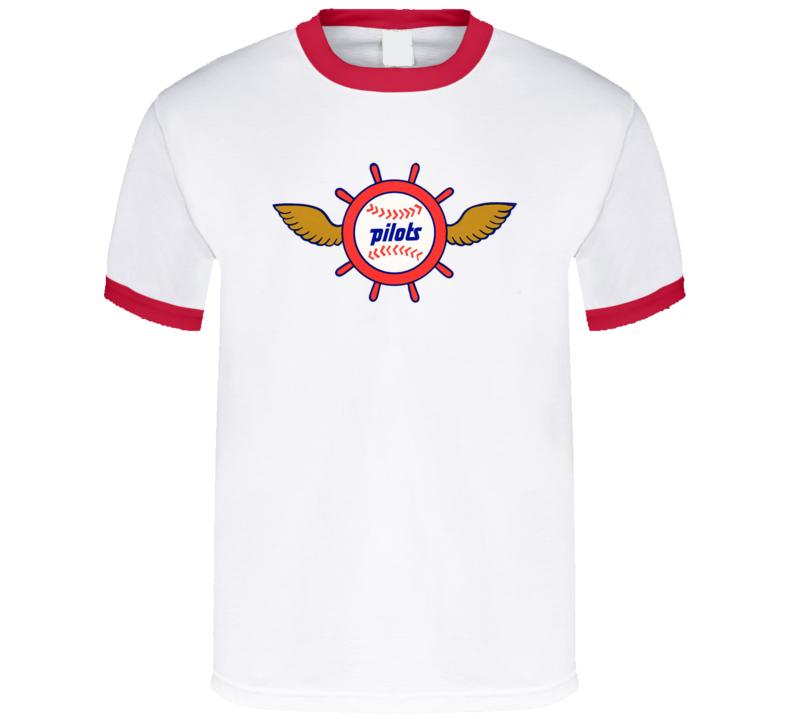 Seattle Pilots Defunct Baseball Team Logo Fan T Shirt