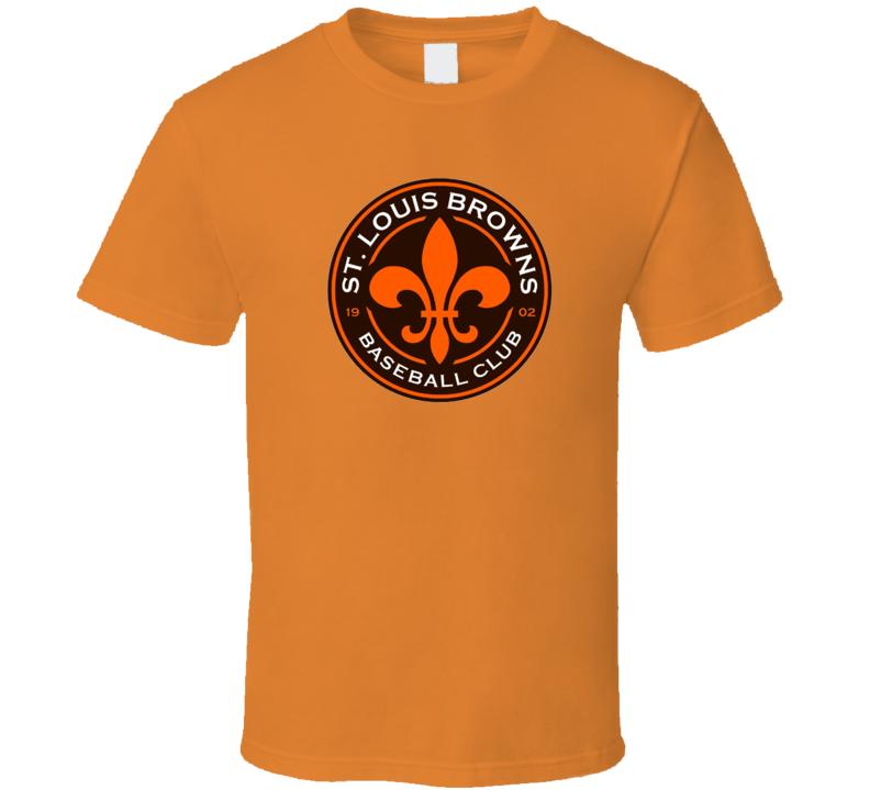 St Louis Browns Cool Defunct Baseball Team Logo Fan T Shirt