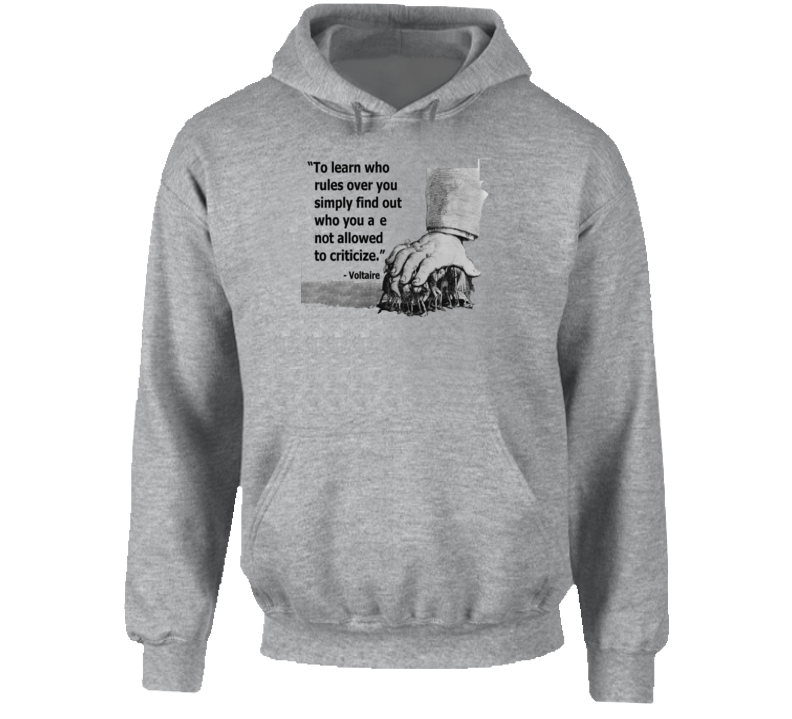 Voltaire Quote Hoodie