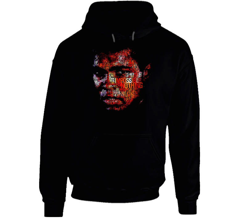 Muhammad Ali Famous Boxing Motivational Quote Black History Month Hoodie