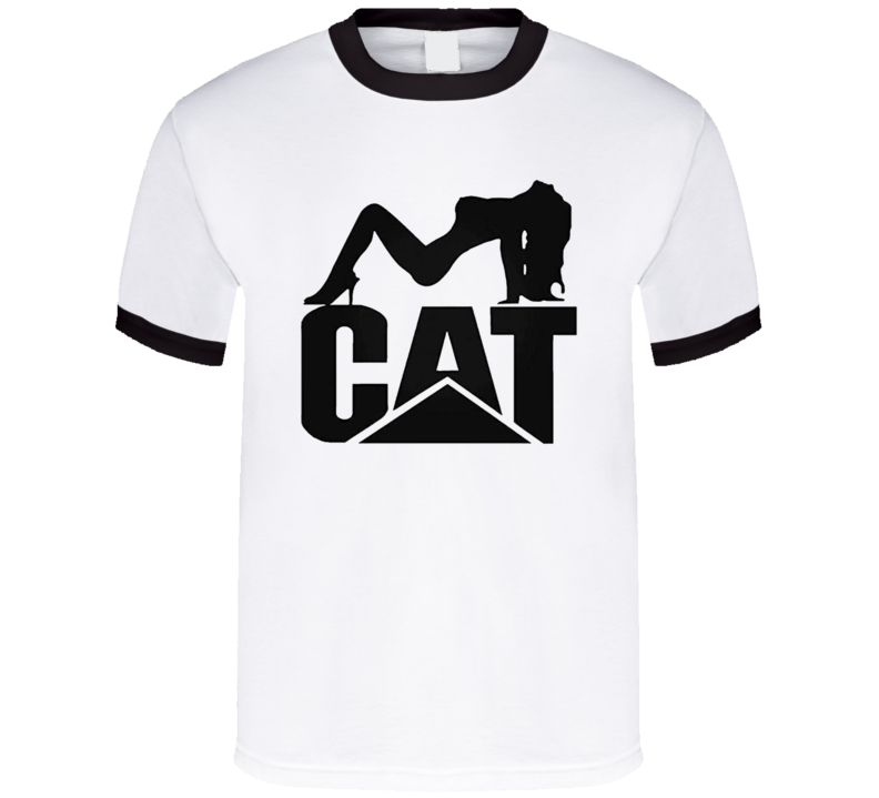 Cat Trucks Logo Pin Up Girl Funny Adult Humor Graphic T Shirt