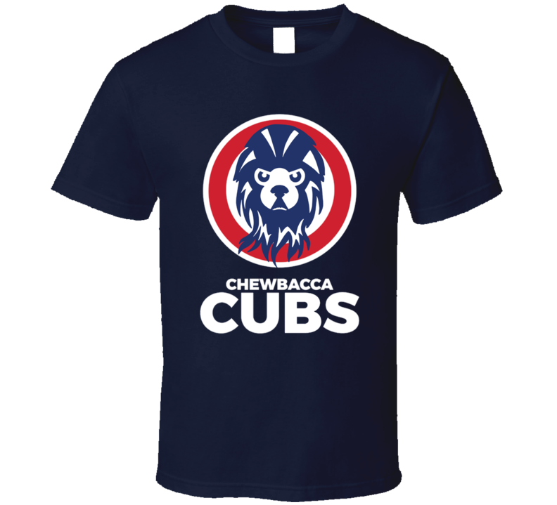 Chewbacca Cubs Funny Chicago Sports Cubs Baseball Parody Fan T Shirt