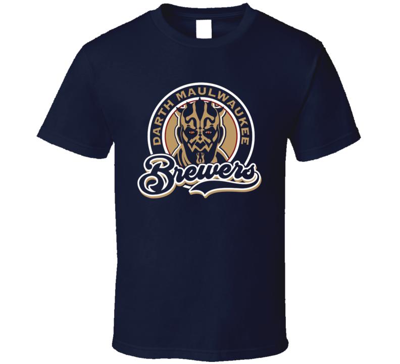 Darth Maulwaukee Brewers Funny Darth Maul Parody Brewers Baseball Fan T Shirt