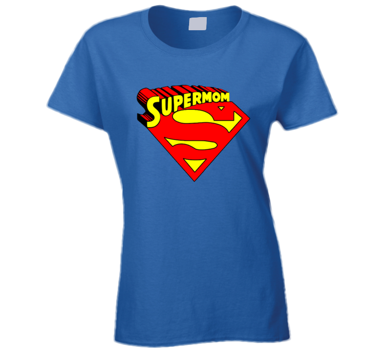 Supermom Funny Mothers Day Parody Fan Ladies T Shirt