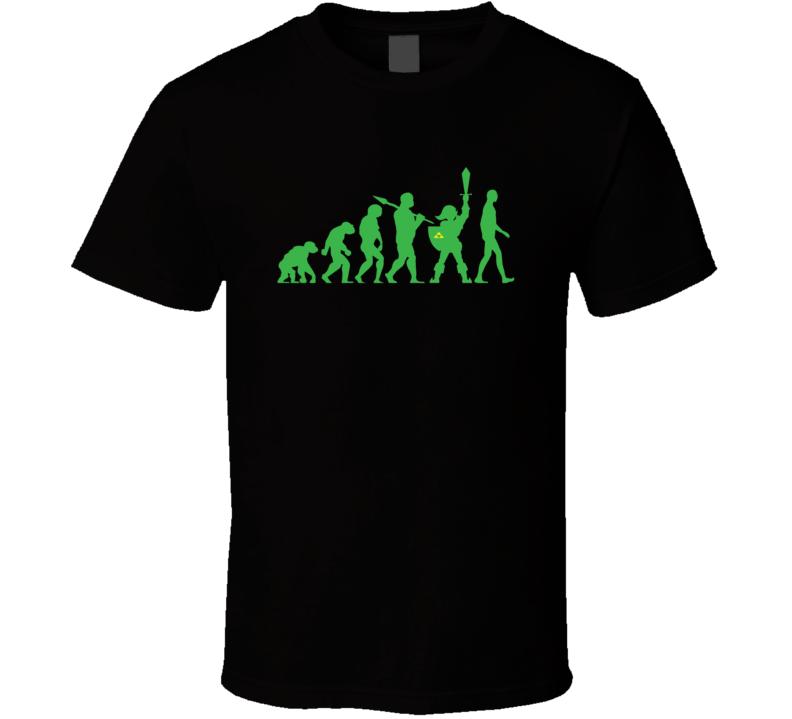 Evolution Of Man Funny Legend Of Zelda Comic Gaming T Shirt