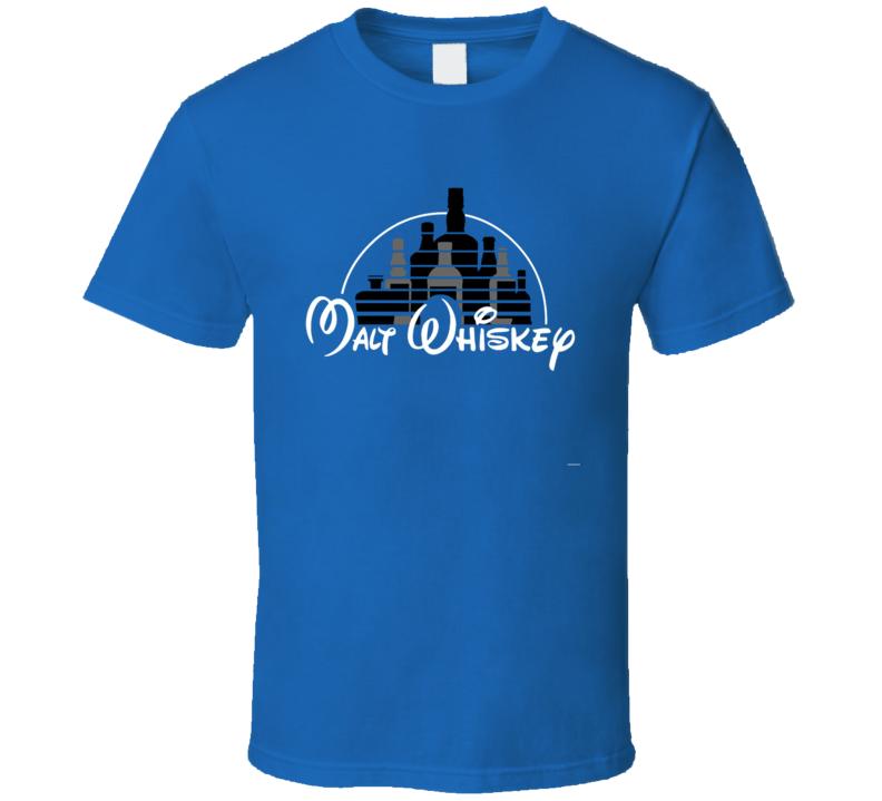 Walk Disney Funny Malt Whiskey Logo Parody Fan T Shirt