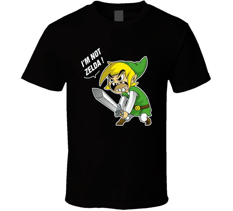 I'm Not Zelda Funny Legend Of Zelda Graphic T Shirt
