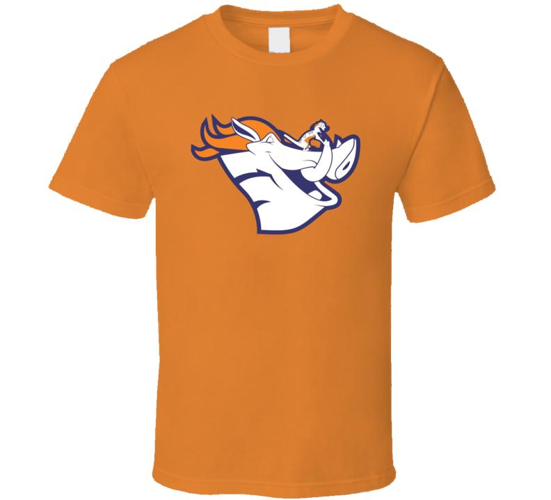 Denver Broncos Funny Parody Pumba Timon Lion King Parody Sports Fan T Shirt