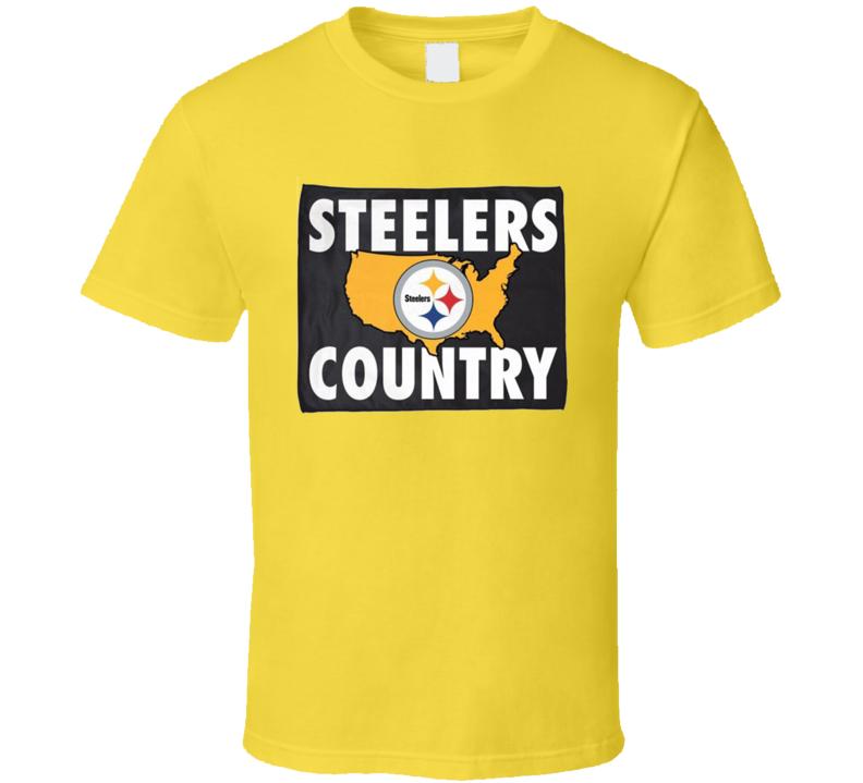 Steelers Country Funny Pittsburgh Football Sports Fan Nfl Fan T Shirt