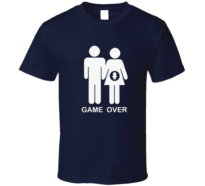 Pregnancy Funny Couples Game Over Adul Humour Graphic Fan T Shirt