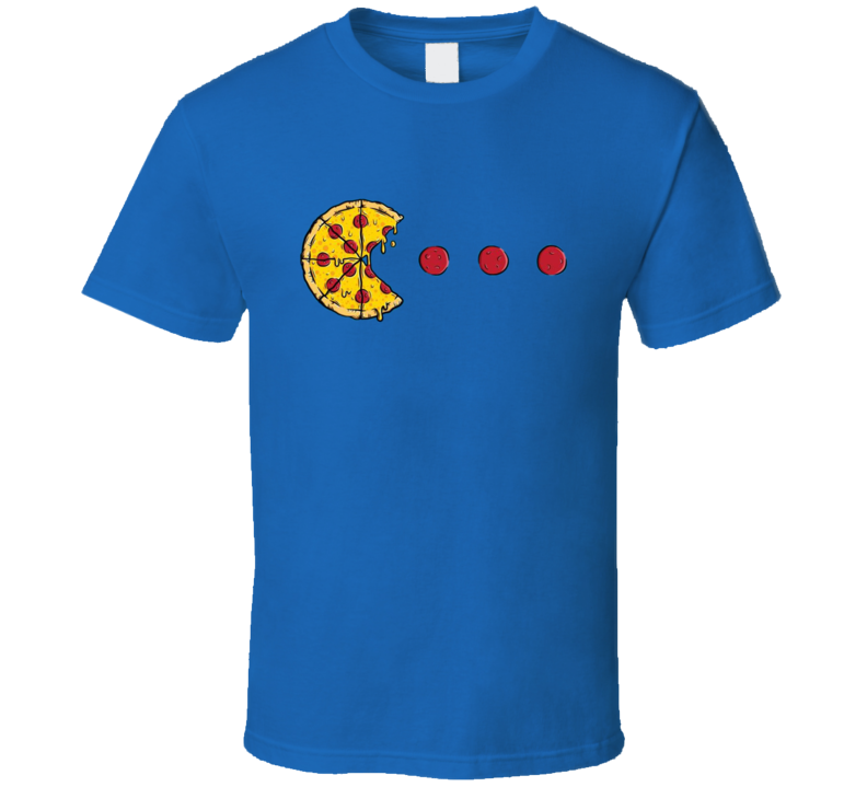Pacman Pizza Parody Funny Gaming Graphic Fan T Shirt