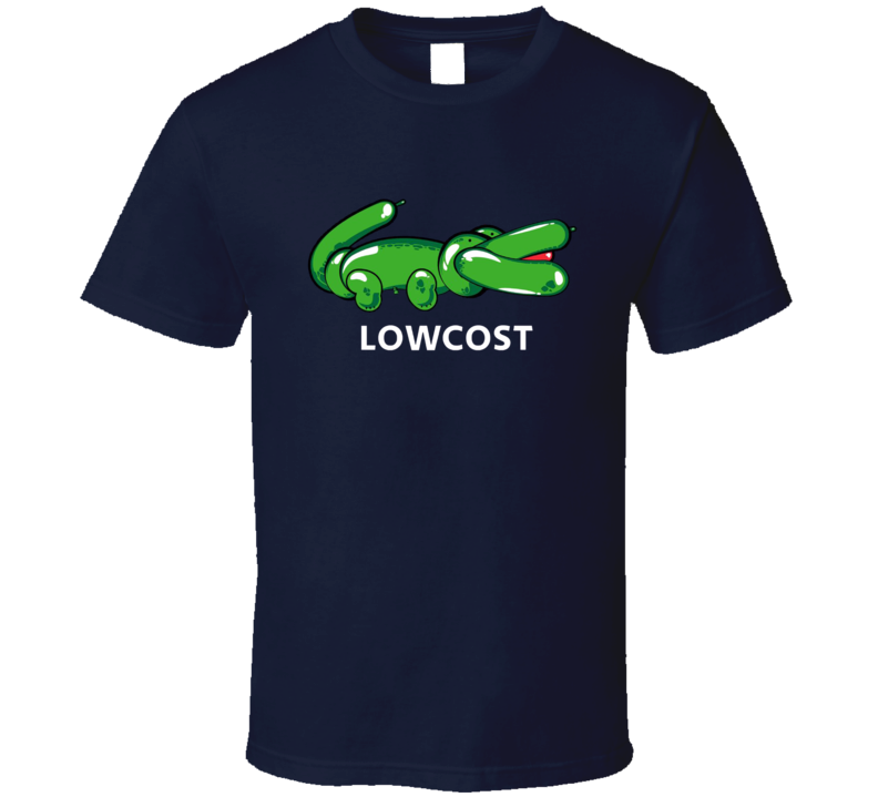 Lowcost Lacoste Parody Logo Funny Graphic T Shirt