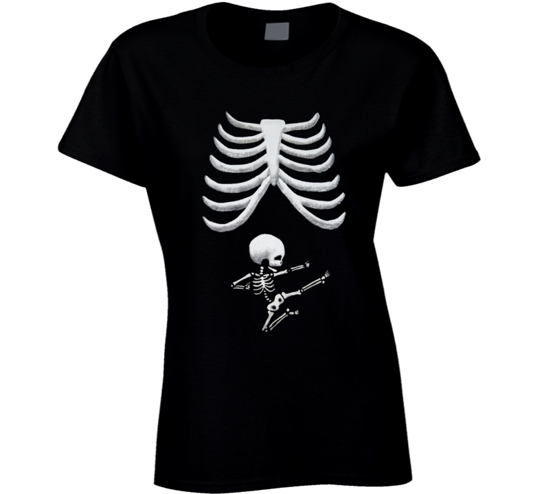 Funny Pregnancy Halloween Graphic Ladies T Shirt