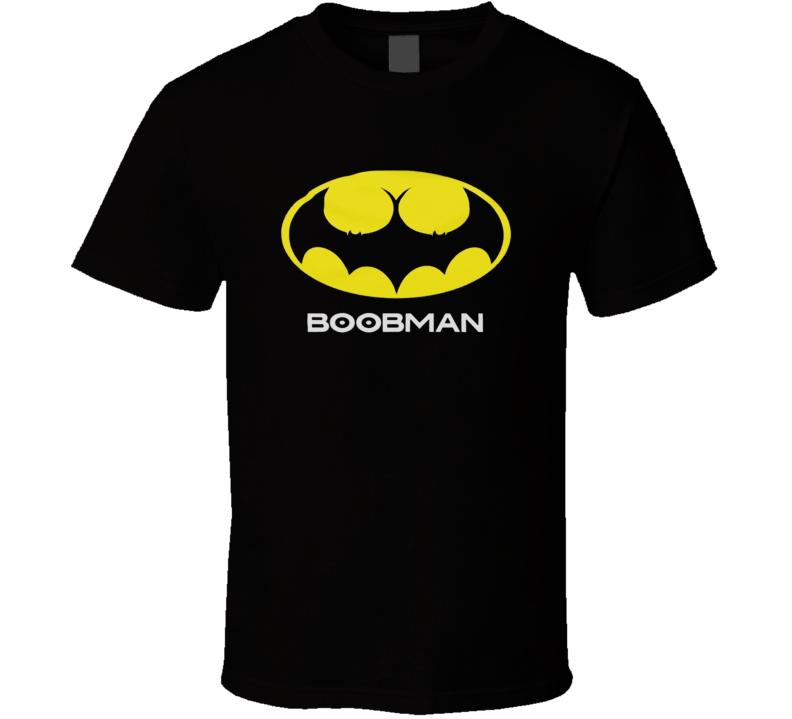 Boobman Funny Batman Parody Logo Adult Sex Tits T Shirt